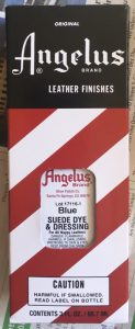 Angelus Suede Dye & Dressing is used to dye suede shoes
