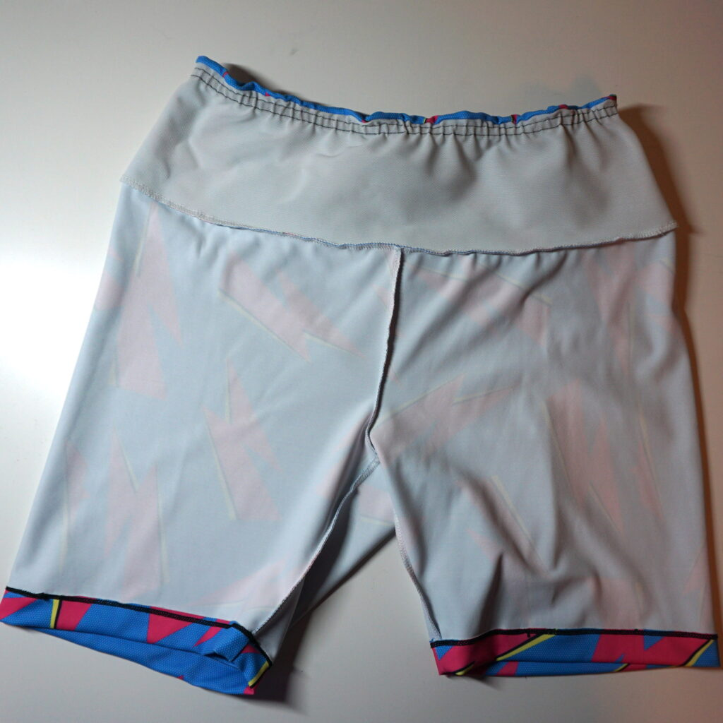 The insides of the Aila Shorts is all-white with a white power net waistband facing.