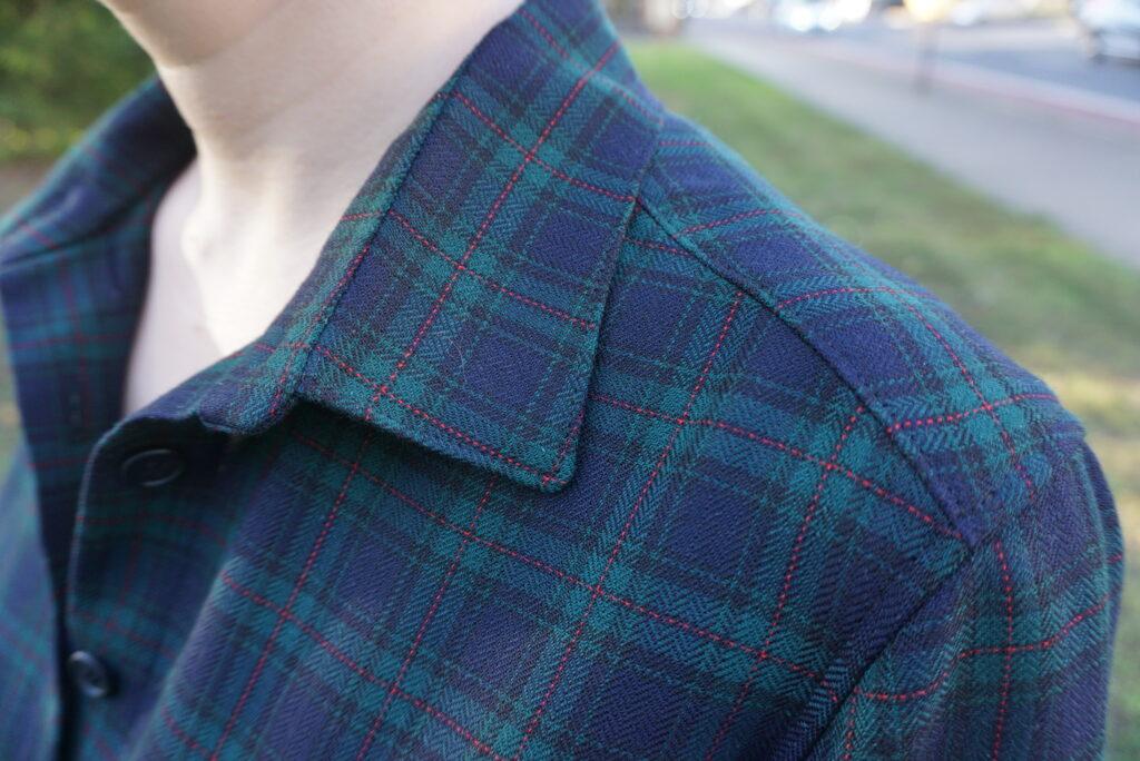Detailaufnahme des Kragens meiner Hemdbluse